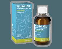FLUIMUCIL ERKÄLTUNGSHUSTEN<br /> FERTIGSIRUP<br /> 100 ml und 200 ml
