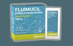 FLUIMUCIL ERKÄLTUNGSHUSTEN<br /> GRANULAT<br /> 200 mg und 600 mg